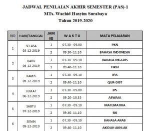 PAS 1 300x261 - JADWAL PENILAIAN AKHIR SEMESTER (PAS)-1. TAHUN AJARAN 2019-2020