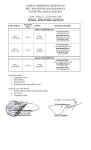 Kegiatan Kesiswaan 21 22 Desember 1 182x300 - JADWAL BIMBINGAN KESISWAAN BERTEMA : KHOTMIL QUR'AN
