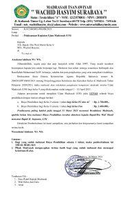 22. Pemberitahuan Kegiatan Ujian Madrasah bagi Kelas 9 1 182x300 - Pelaksanaan Kegiatan Ujian Madrasah (UM)